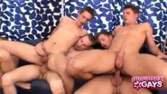 Hot Gays Having An Orgy