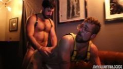 Jay Austin and Michael Tempesta Flip Fuck Raw in Gear in Back of Club