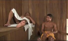 Foda gay dentro da sauna